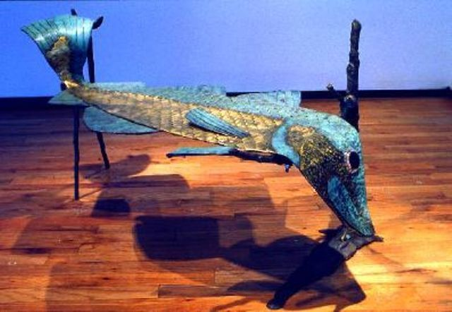 The Persistence of Fish Memory coffee table. Artist Jim Maunder