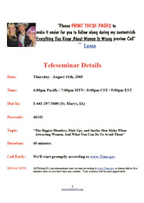 Cover of Pickup101's Book Teleseminar Handout August 11