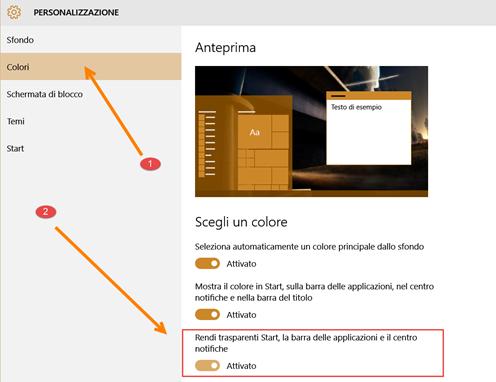 personalizzazione-colori-trasparenza