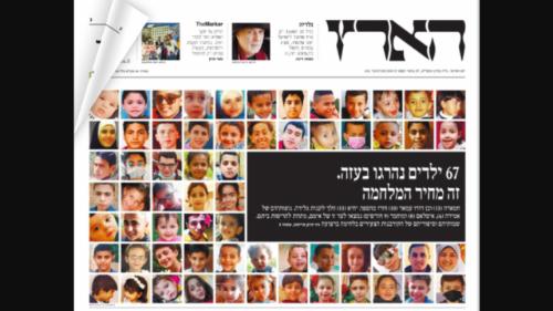 Surat Kabar Israel Terbitkan Foto 67 Anak Palestina yang Tewas di Gaza: Inilah Harga Perang