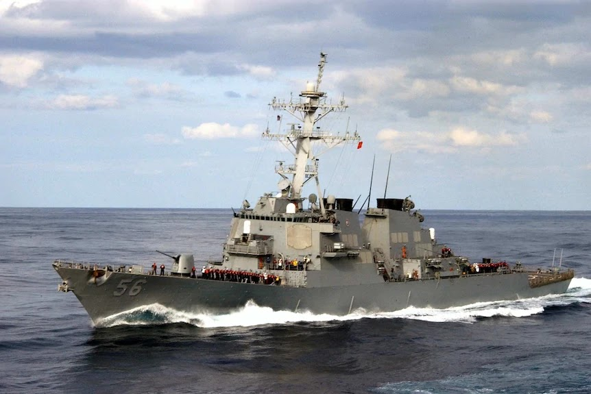 US sends warship through Taiwan Strait for first time under Joe Biden