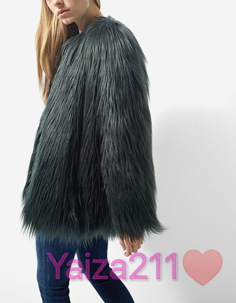 abrigo rosa pelo joya zara ofertaaa Chicfy