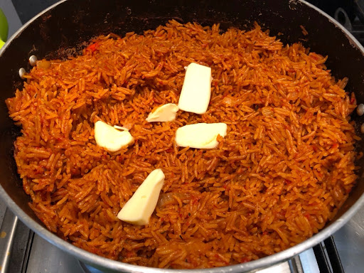 Hot pot of Jollof