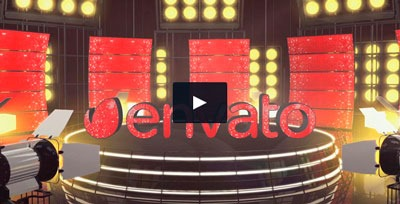 Plantilla para cabecera de programa tipo concurso, talent show, actuaciones en directo, etc