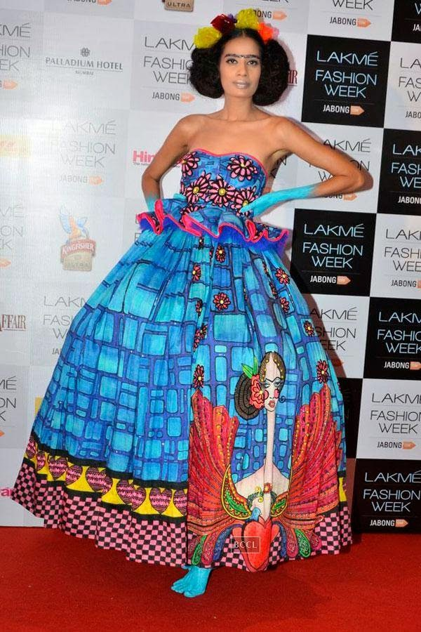 Sony Kaur during Lakme Fashion Week curtain-raiser, held in Mumbai, on July 28, 2014. (Pic: Viral Bhayani)
