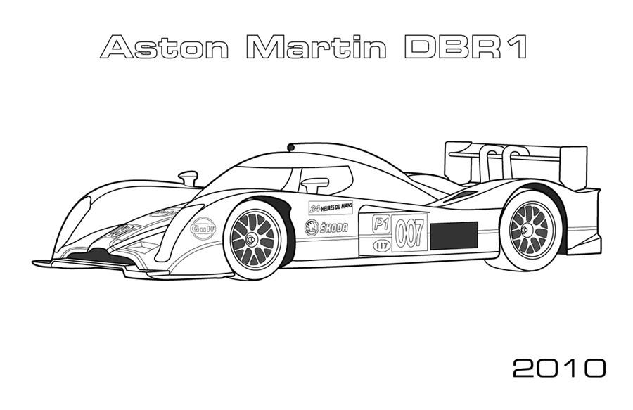 Le Mans Prototypes Car Coloring Pages