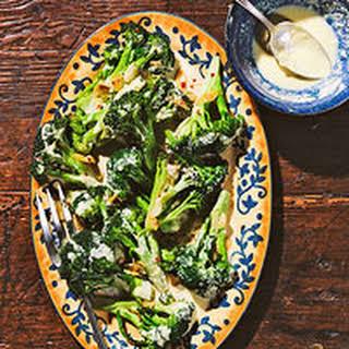 Creamy Garlic Sauce with Broccoli.