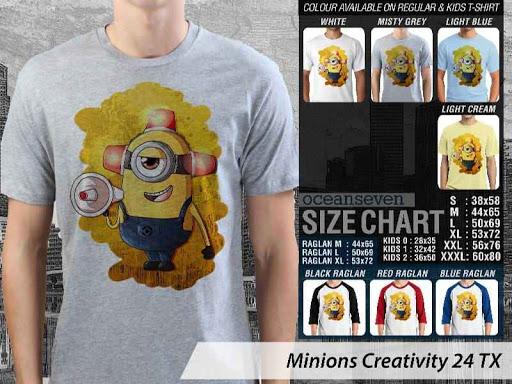 Kaos Kartun Minions Creativity 24 distro ocean seven
