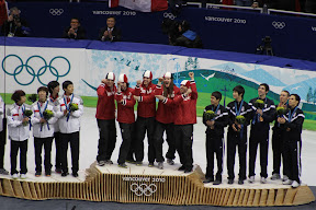 Team Canada on the podium with Korea in silver and USA in bronze