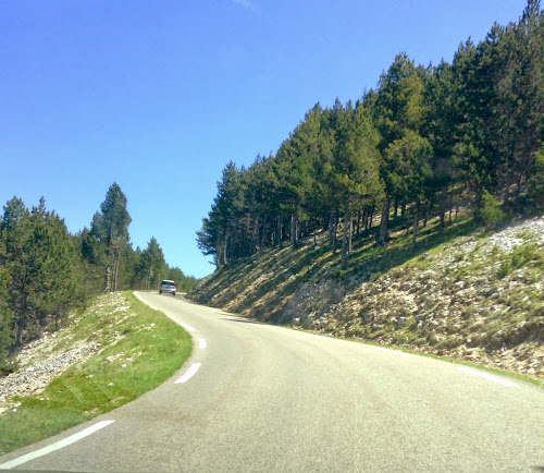 on the way up Mont Ventoux