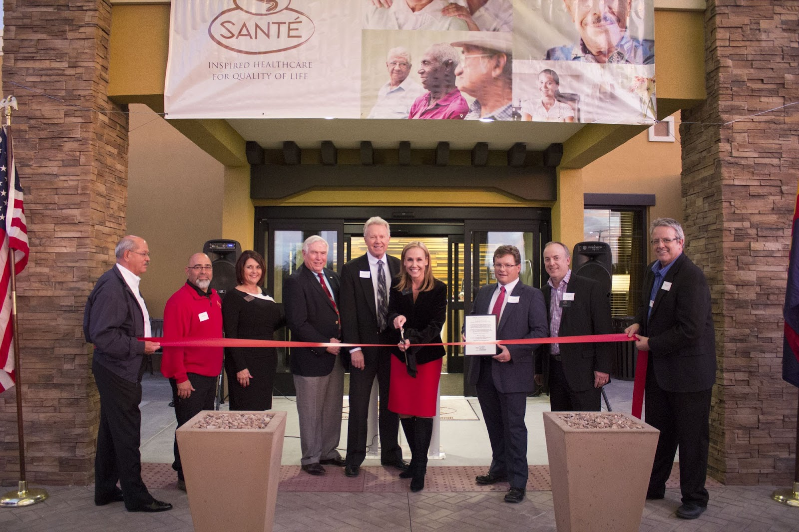 Congratulations to Sante' on their grand opening!  On December 7th, the Tucson Metro Chamber and Sante' celebrated the opening of Tucson's newest provider of post acute care and transitional rehabilitation with a ribbon cutting and VIP cocktail reception.  Sante' of Tucson is a groundbreaking combination of hospitality and healthcare designed to heal mind, body and spirit.  Open in January.
