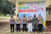 Gerai Vaksin Di Pondok Pesantren Bersama Polres Serang Kota