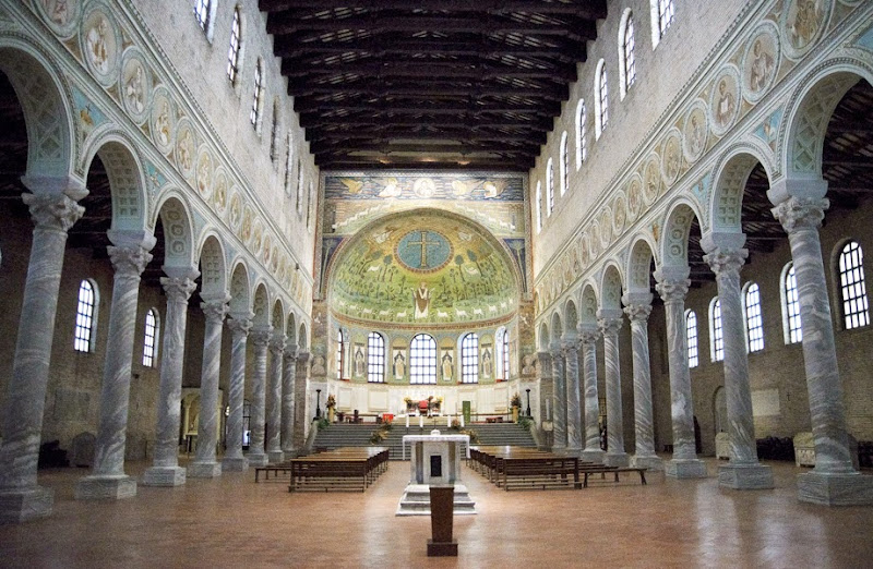 50. Interior of the Basilica of Sant' Apollinare in Classe. VI Century. Ravenna. 2013