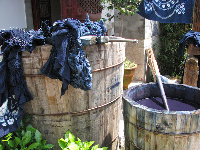Tie dye equipment in the Bao people's village, Dali, Yunnan