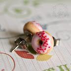 Pink Donut Studs