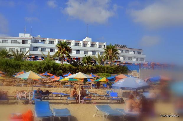 отель кораллия, кипр, пафос, пейя, пляж