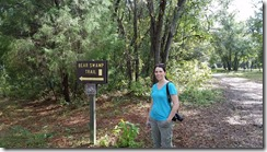 Tina at Bear Swamp Trailhead