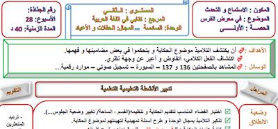 جذاذات كتابي في اللغة العربية المستوى الثاني 2021 2022