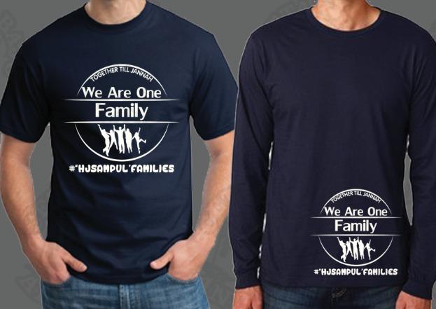 Cetakan Tshirt Design Sendiri Diterima Tempahan Tshirt Family Day