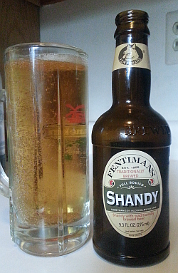 Fentimans Shandy, poured