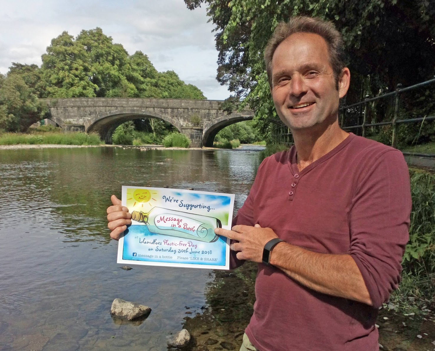 Message in a bottle campaign to clean up River Severn