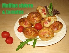 Muffins au chevre et a la tomate