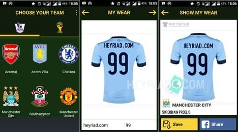 dengan menyertakan nama sendiri sanggup Anda lakukan dengan gampang Cara Membuat Jersey Sepak Bola di Android