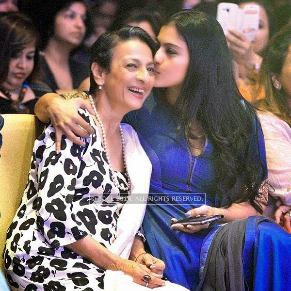 Tanuja and Kajol during a Cancer campaign, held at JW Marriott, in Pune.
