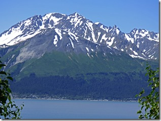 Seward from the other side of Resurrection Bay