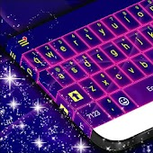 Keyboard Skin Neon Purple