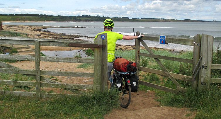 Gate on the National Cycle Route 1, Whitefin Spring, Bay near Littlehoughton