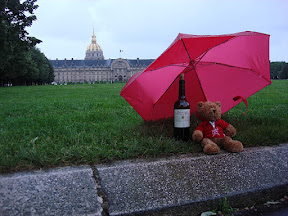 Another shot of the bear in front of Les Invalides.