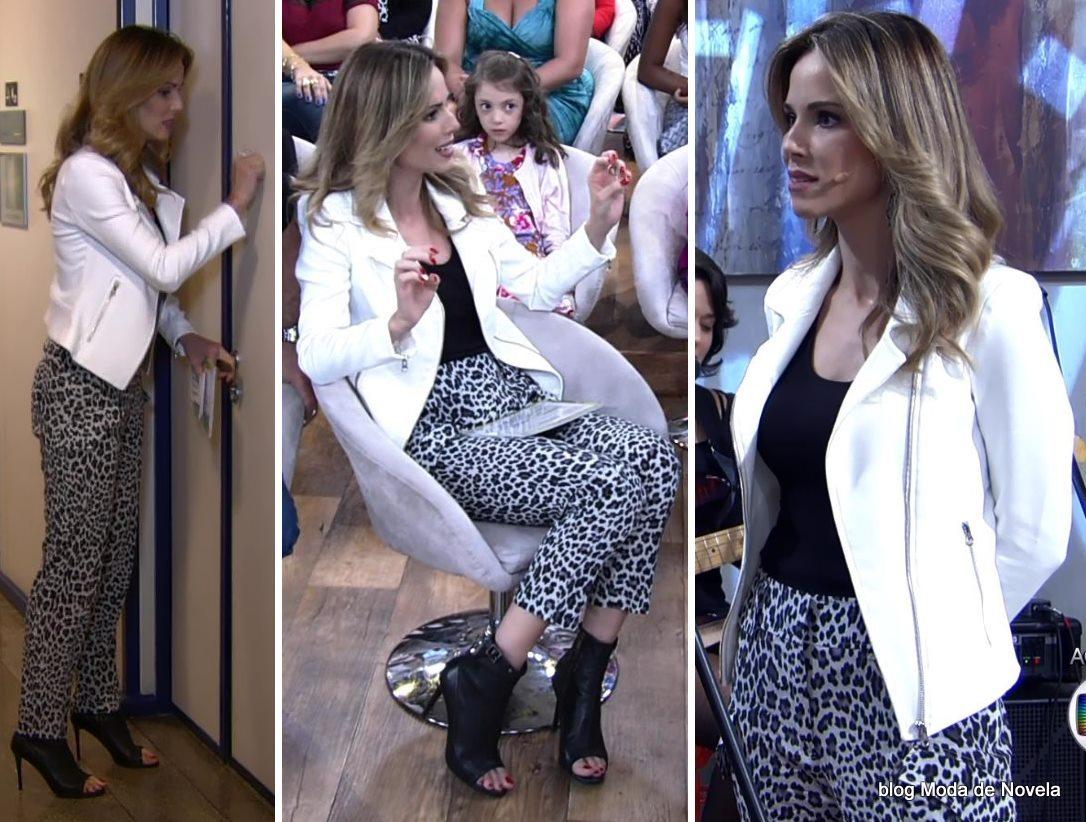 moda do programa Encontro - look da Ana Furtado dia 15 de maio