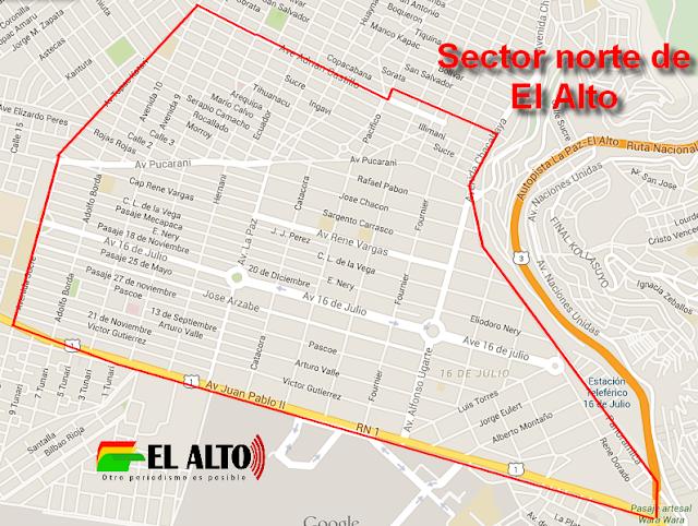 Ferias en el sector norte de la ciudad de El Alto - El Alto ORG