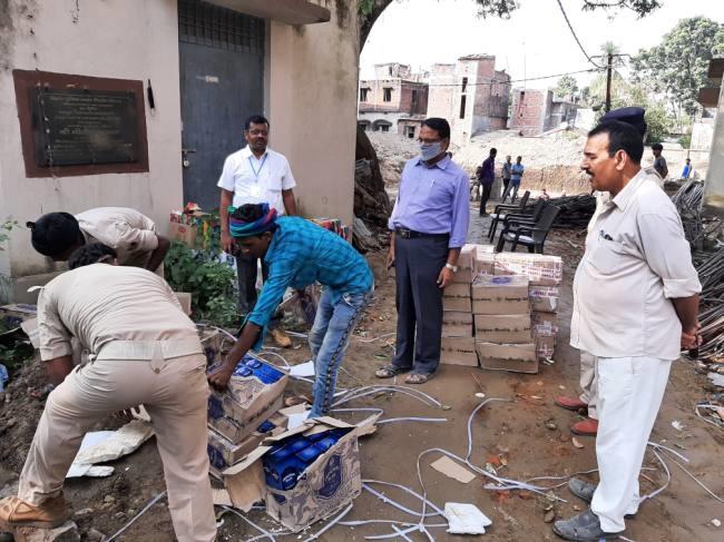 मधेपुरा/पुलिस द्वारा जब्त की गई 656 लीटर शराब की गई नष्ट। madhepura news