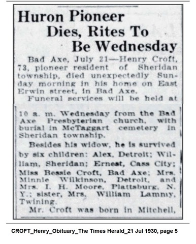 CROFT_Henry_Obit_TheTimesHerald_21 Jul 1930_pg 5