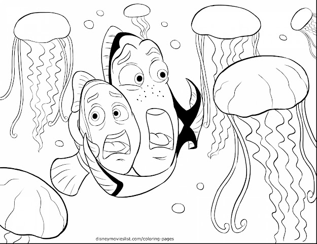 Magnificent Dory Finding Nemo Coloring Pages Disney With Nemo Coloring Pages  And Finding Nemo Coloring Pages