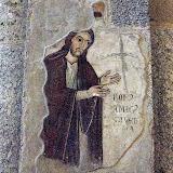97. Fresco depicting Christ. The Basilica of Sant'Ambrogio. IV Century. Milan. 2013