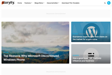 Storyify Blogger Template Download [Free + Premium]