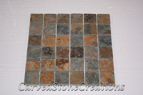 2x2, Flooring, Flooring & Mosaics, Interior, Mosaic, Multicolor, Natural, Slate, Stone, Tile, Tumbled