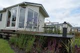 Tuin bij recreatiewoning Lemmer (Friesland)
