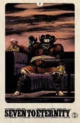 Actualización 26/07/2017: Seven To Eternity #07, un nuevo arco comienza, esta vez dibujado por James Harren... traducido por Flowd Wayne y maquetado por Arsenio Lupín para la alianza entre How To Arsenio Lupín, Prix Comics, Outsiders y La Mansión del C.R.G.