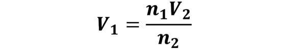 Las leyes de los gases: de boyle, de Charles, de Gay Lussac, de Avogadro y de Dalton - Despeje de la ley de Avogadro cuando se desconoce V1 pero se conoce V2, n1 y n2 - sdce.es - sitio de consulta escolar