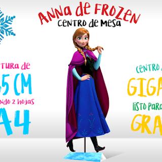 Centro de Mesa: Anna de Frozen para Imprimir