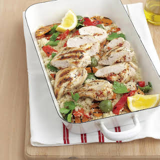 Ricotta Chicken with Roast Vegetable Couscous.