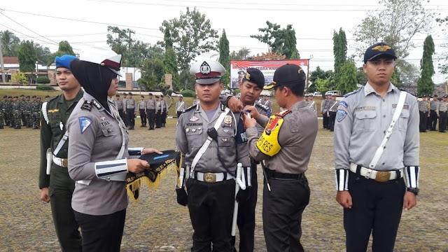 Kapolres Lamut pimpin apel pasukan operasi zebra Krakatau tahun 2018