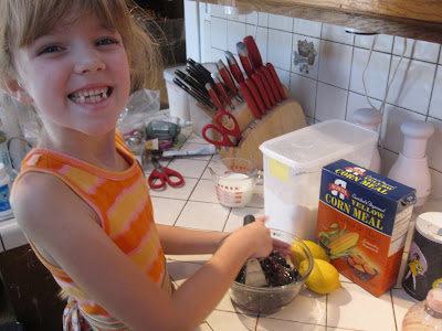 Amara Mashing Blueberries