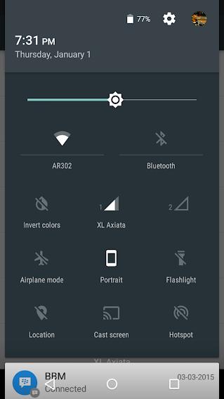Aktifkan Matikan Invert Colors Lollipop Android