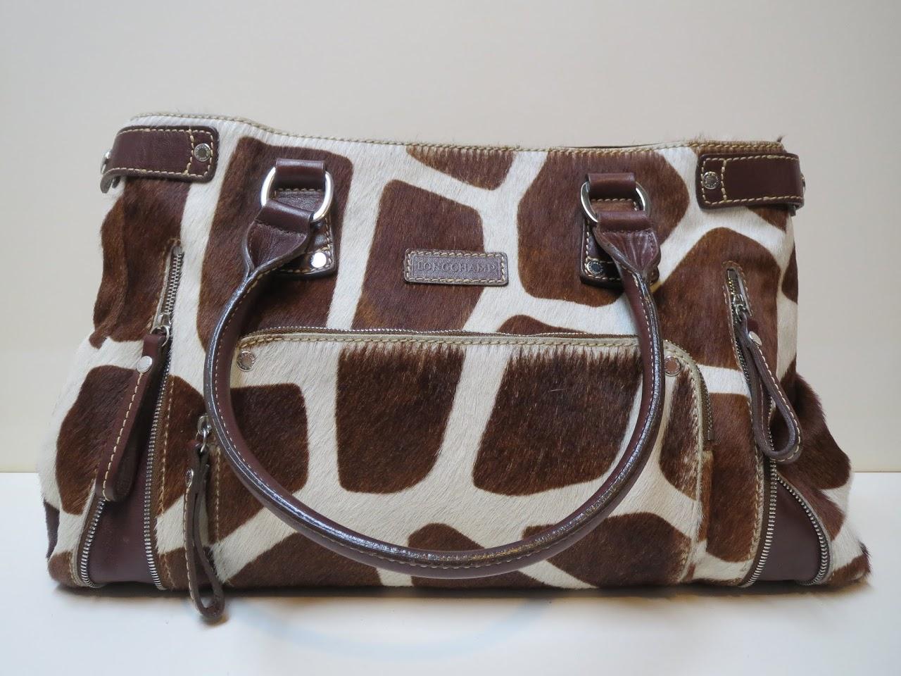 Longchamp Giraffe-Print Hide Shoulder Bag