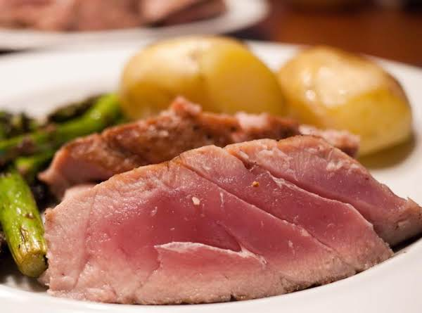 Poached Tuna Steaks Just A Pinch Recipes